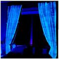 Fibre optique d'argent tissu rideaux opaques vitres électriques prix