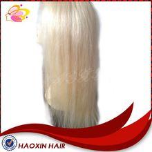 2014 Fashion Straight Long White Human Hair Full Lace Wig