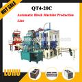 Usine de fabrication de brique de cendres volantes machine bloc faisant prix qt4-20c briques usine de fabrication
