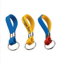 Most popular silicone advertising keychain