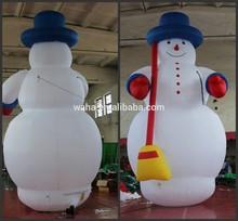 6m high giant inflatable christmas snowman for christmas decoration
