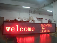 advertising outdoor p10 red color message display