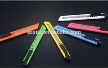 2014 canton fair hot sale cheap utility mini pocket 18mm utility knife, cutter,single blade,plastic handle