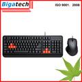 mais recente computador com fio de jogo do teclado e mouse combo