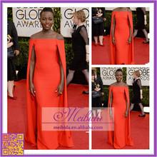 Off Shoulder Red Chiffon Stylish Evening Dress Long Frock Dress Vestdos de novia Custom Made 2014