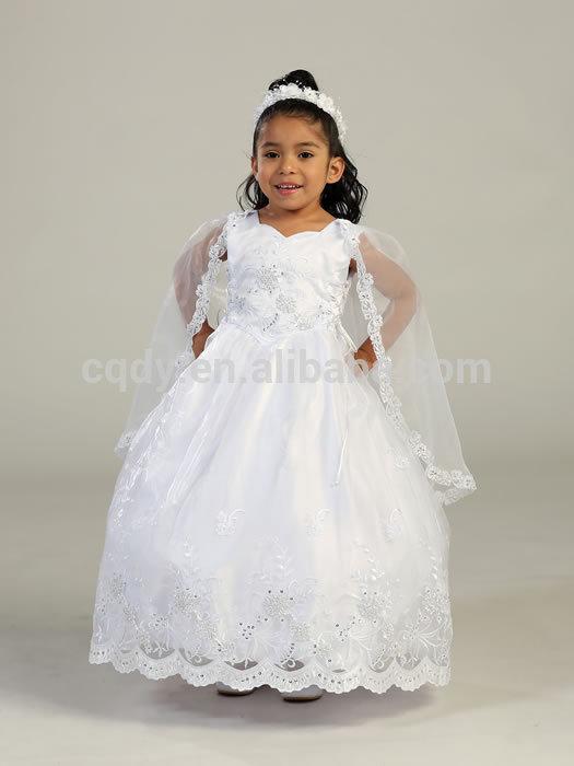 2014 chegada nova boa qualidade handmake baby vestido de baptizado/primeira comunhão vestido menina de flor