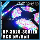 DC12/24V waterproof IP65 flexible led strip lights 3828 300leds RGB Led light strip,5m/roll led programmable rgb rope lighting