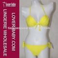 slim fit und weich gepolsterte gelbe farbe Frau Modelle transparent bademode und Badeanzug