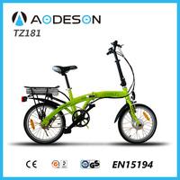 New folding bike electric bicicleta eletrica pocket bike, v brake 24v wheel motor electric bicycle europe