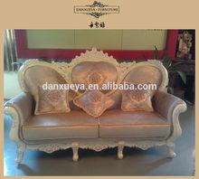 China Arabic Majlis Furniture , Victorian Elegant King Luxury Carved Fabric Sofa Set