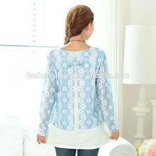 OEM maternity clothes factory cotton blouse for pregnant women AK152