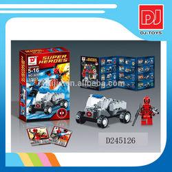 2014 Hot sale plastic toys wholesale blocks super heroes minifigure for kids