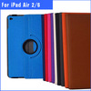 360 rotate leather case cover for ipad air 2 ,for ipad air 2 stand case cover