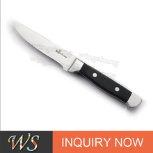 """WS SSK15 10"""" Stainless Steel Steak Knife with Pom Handle"""