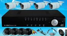 h.264dvr and 850tvl cctv camera kit