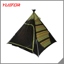 American Indian Teepee Tent,Korean Pyramid Style Camping Tent,Yuetor Brand Teepee Tent Factory Direct Sale