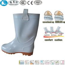 Rigger estilo amarelo branco pvc botas de segurança para a construção civil