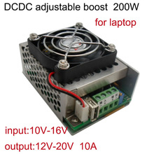 Favorites Compare DC DC step up boost converter IN 10V-16V to OUT 12V-20 adjustable 10A 200W with FAN