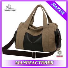 OEM production canvas casual bag,designer hot sale unisex handbag,stock bag made in China