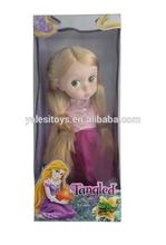 caliente 2014 hermoso bebé de juguete de la muñeca de real de pelo largo princesa