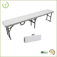 "plastic folding bench table- 72"" HDPE foldable bench for event"