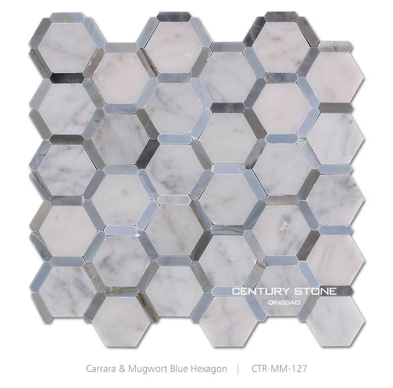Black And White High Gloss Hexagon Floor Tile 30x30 Buy Hexagon Floor Tile
