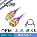 SIPU factory price high quality male to female usb cable type 2725