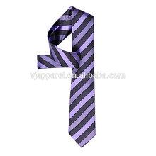 Colorful Stripe silk polyester logo blue necktie