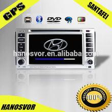 HANOSVOR China Factory Directly Sale Hyundai Santa Fe Car Audio System DVD Multimedia Player with GPS Navigation