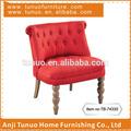 Divano, forma di zucca gomma di legno gambe, mobili per la casa, patchwork indietro, tb-7433s