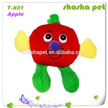 Apple plush squeaker pet toy,dog plush toys, zanies dog toys