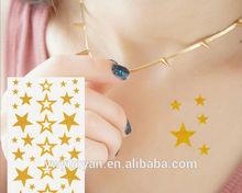 Glitter Temporary Star Tattoo