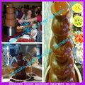 Hot vente fontaine de chocolat base/fontaine de chocolat étiqueteuse./7 2» fontaine de chocolat