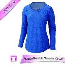 100% cotton 160gsm to 200gm single jersey long sleeves women's T-shirt