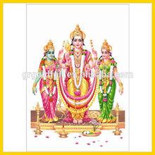 gold foil Hindu idol/hindu god picture