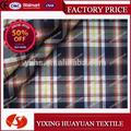 100% manta de algodão e fios tingidos de seleção tecido de flanela