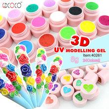 Salon Cheap professional 3D modeling gel /soak off nail UV gel kit,40261h