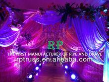 Wedding deco- pipe, drape curtain backdrop