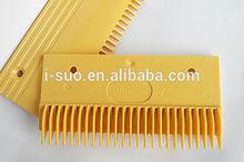 2014 hot sale competitive price yellow plastic comb plate escalator part for escalator