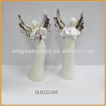 hotsale ceramic angel figurines angel statue ornament porcelain angel