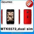 Chine meilleure vente 3 G MTK6572 écran capacitif dual sim téléphone portable avec wifi