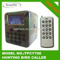 2014 nuovo modello 50w chiamata uccello elettronico con timer e colorato display lcd 15 chiave telecomando