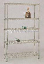 NSF chrome plated metal wine shelf with hige quality