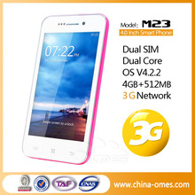 M23 3G Dual Core MTK6572 Dual SIM Card Bluetooth China Handphone