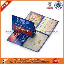 Die cut color flyer paper printing,post card