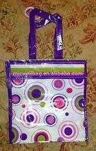 Purple 100% Non Woven Polypropylene Reusable Shopping Grocery Tote Eco Bag