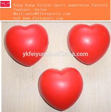 Top Quality Cheap Red PU Heart/Custom Shape Promo Gift pu foam smile red heart