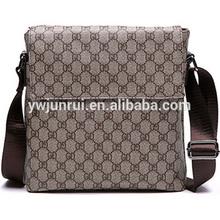 Simple style men elegant diamond plaid bags designer cross pattern men office bags