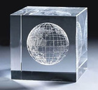 Holy 3d laser cube inner carved crystal