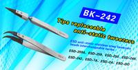 ESD Stainless Steel Tweezers/Straight Tweezers/ Curved Tweezers